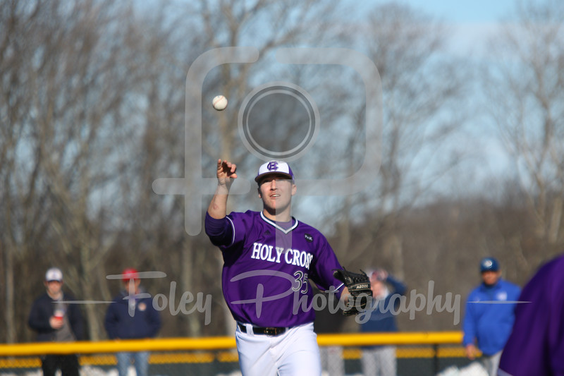 Holy Cross pitcher Justin Finan (35)