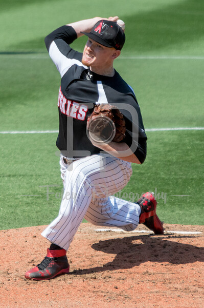 Northeastern Huskies pitcher Brian Christian (22)