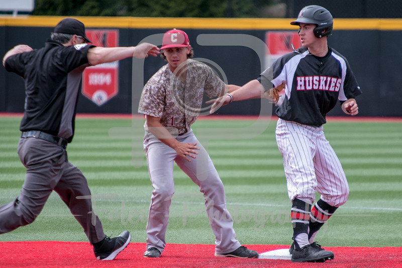 Northeastern Huskies outfielder Pat Madigan (32)
