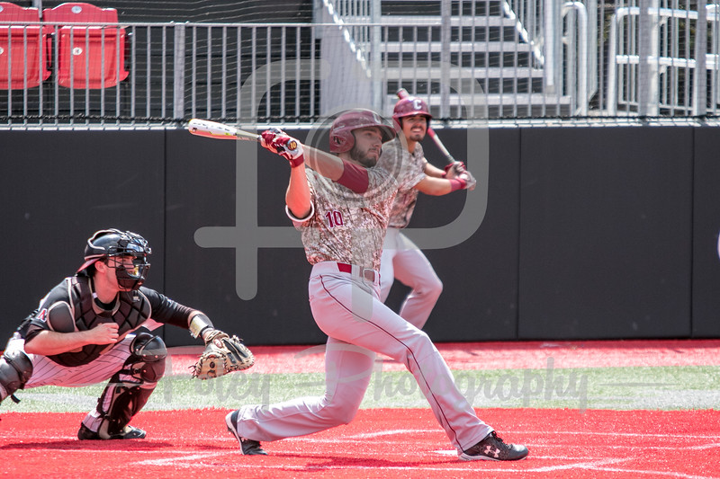 College of Charleston infielder Riley Knudsen (10)