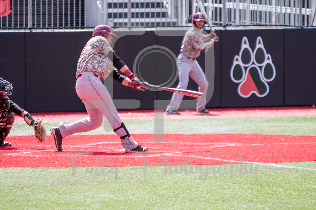 Sunday, April 16, 2017; Brookline, MA;  during the Huskies 6-3 victory over the Cougars in a CAA matchup at Parsons Field.