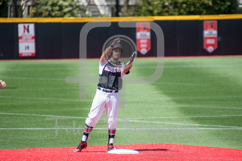 Northeastern Huskies infielder Nick Fanneron (23)