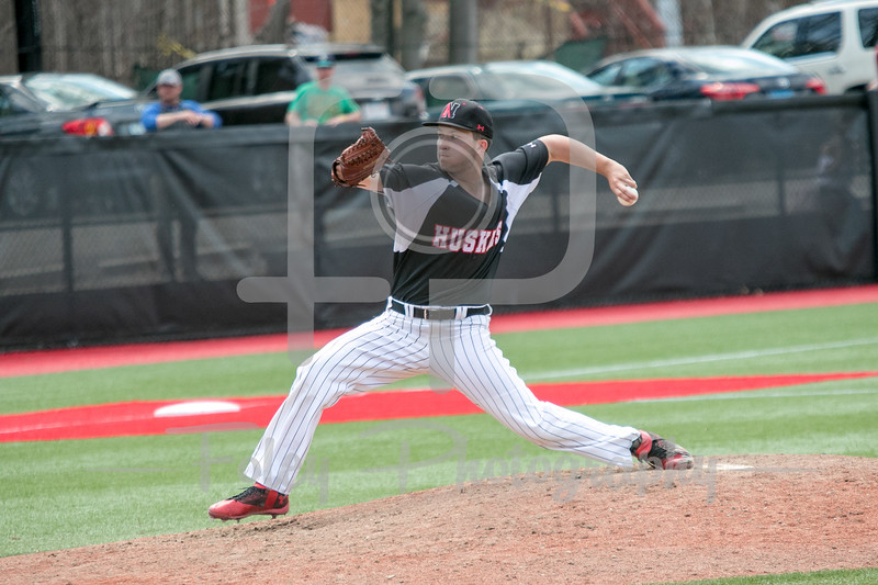 Northeastern Huskies pitcher Andrew Misiaszek (14)