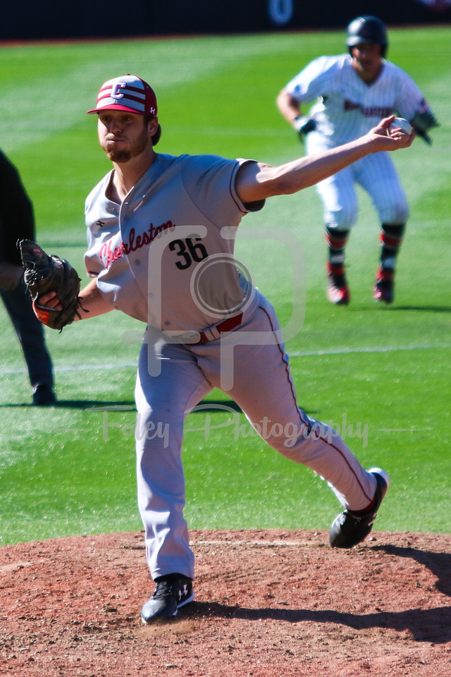 College of Charleston pitcher Will Detwiler (36)