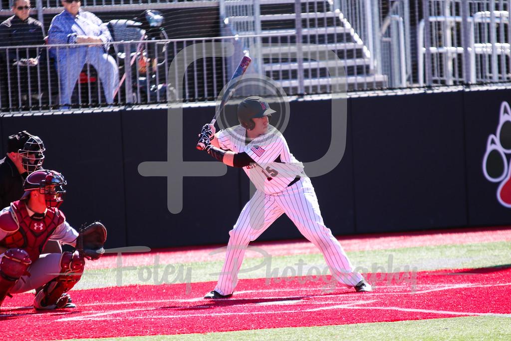 Northeastern Huskies catcher John Mazza (15)