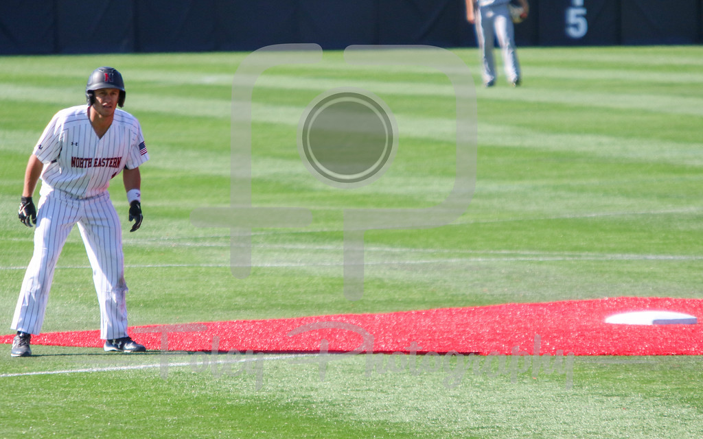 Northeastern Huskies infielder Mason Koppens (1)