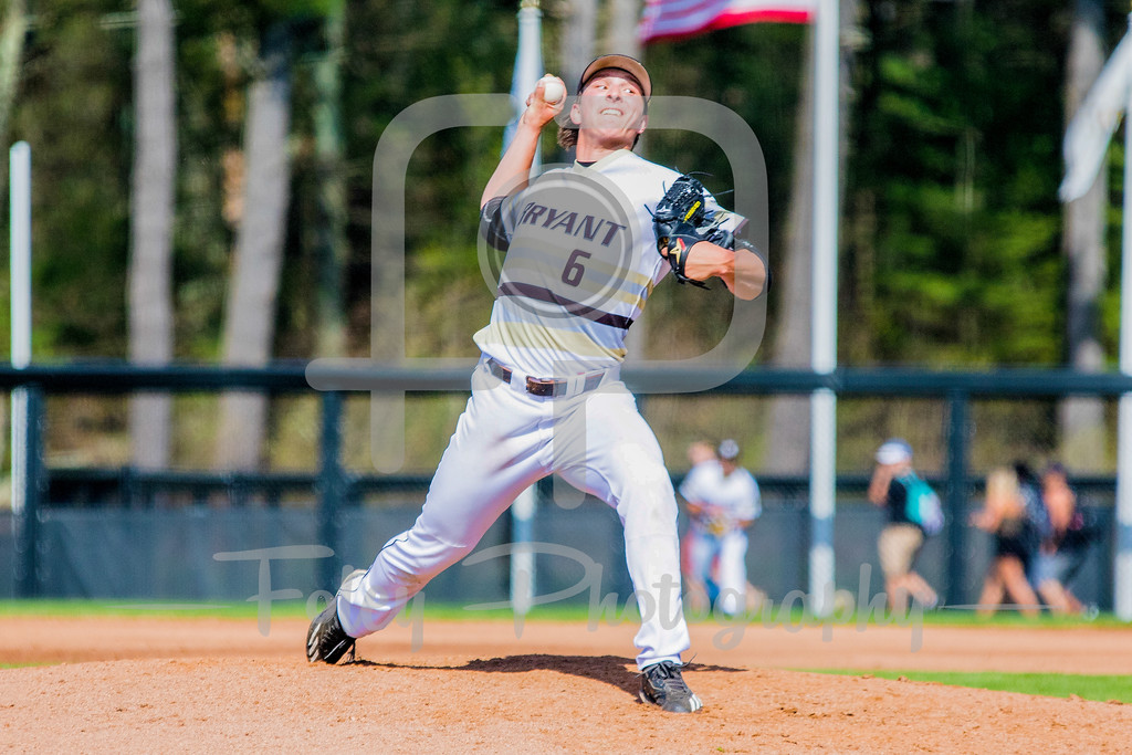 Bryant University Bulldogs pitcher James Karinchak (6)