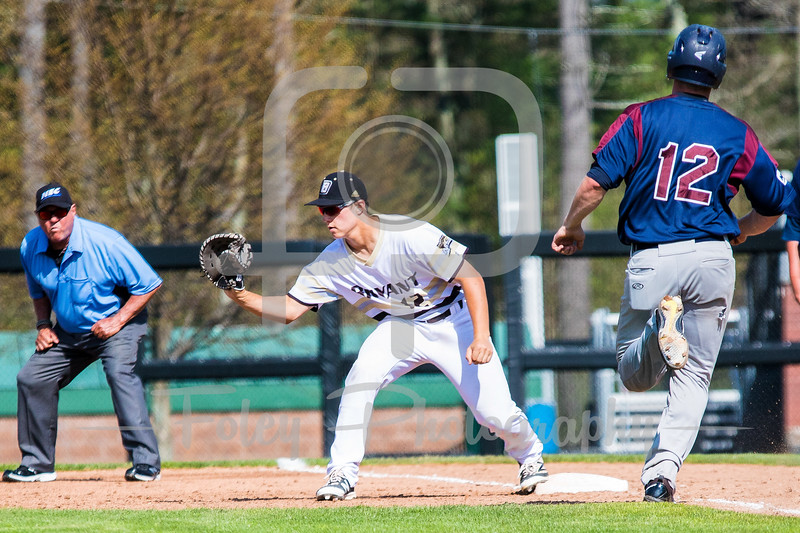 Bryant University Bulldogs first baseman Chris Wright (12)