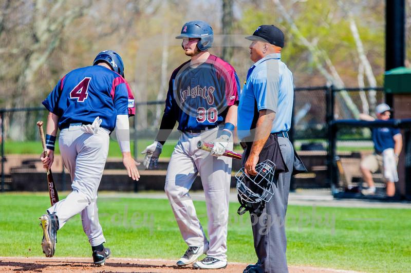 Fairleigh Dickinson Knights outfielder James Donlon (4) Fairleigh Dickinson Knights third baseman Bobby Romano (30)