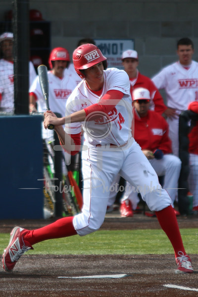 WPI Engineers third baseman Steven Gallagher (14)