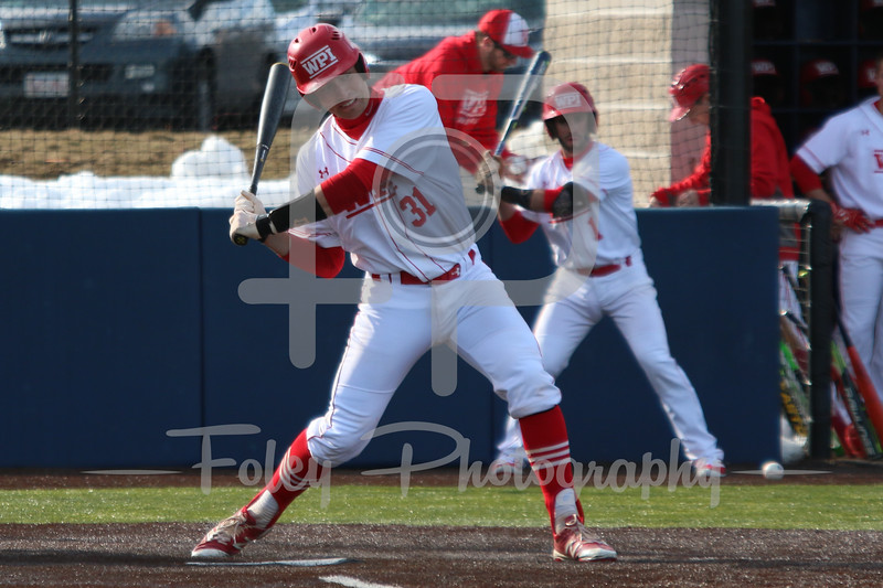 WPI Engineers catcher Austin Lindner (31)