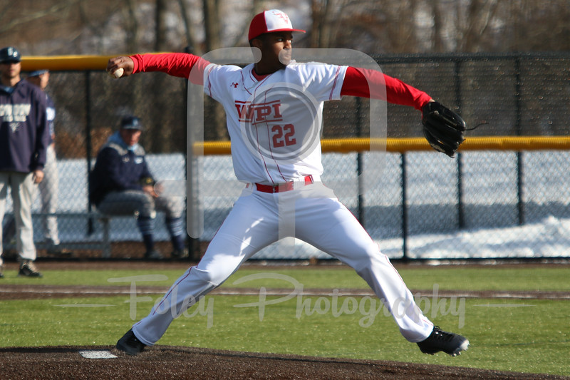WPI Engineers pitcher Keith Scales (22)