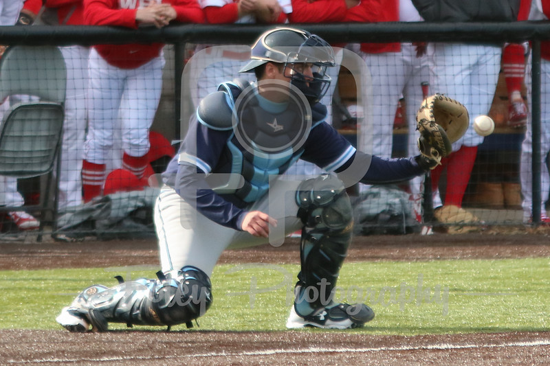 Gordon College Scots catcher Travis Benoit (27)