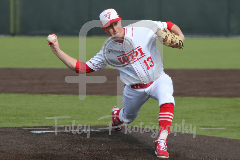 WPI Engineers pitcher Mike Vaitkunas (13)