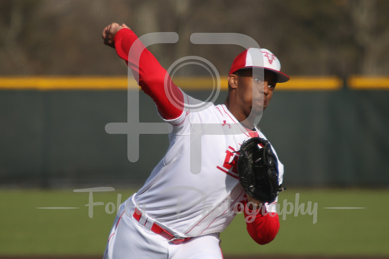 Monday, March 20, 2017; Northboro, MA; WPI Engineers pitcher Keith Scales (22) throws a pitch during the Engineers come from behind 9-7 victory over the Scots at the New England Baseball Complex.