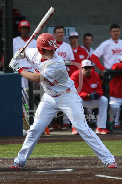 WPI Engineers first baseman Matt Howard (24)