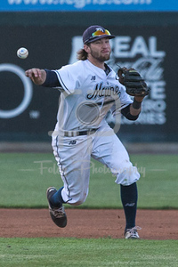 Maine third baseman Cody Pasic (16)