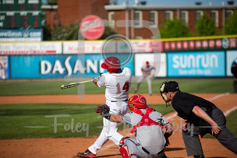 Friday, May 19, 2017; Lowell, MA;  between the Hartford Hawks and Stony Brook Seawolves in the America East tournament.