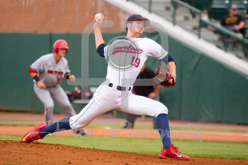 Stony Brook pitcher Brian Herrmann (19)
