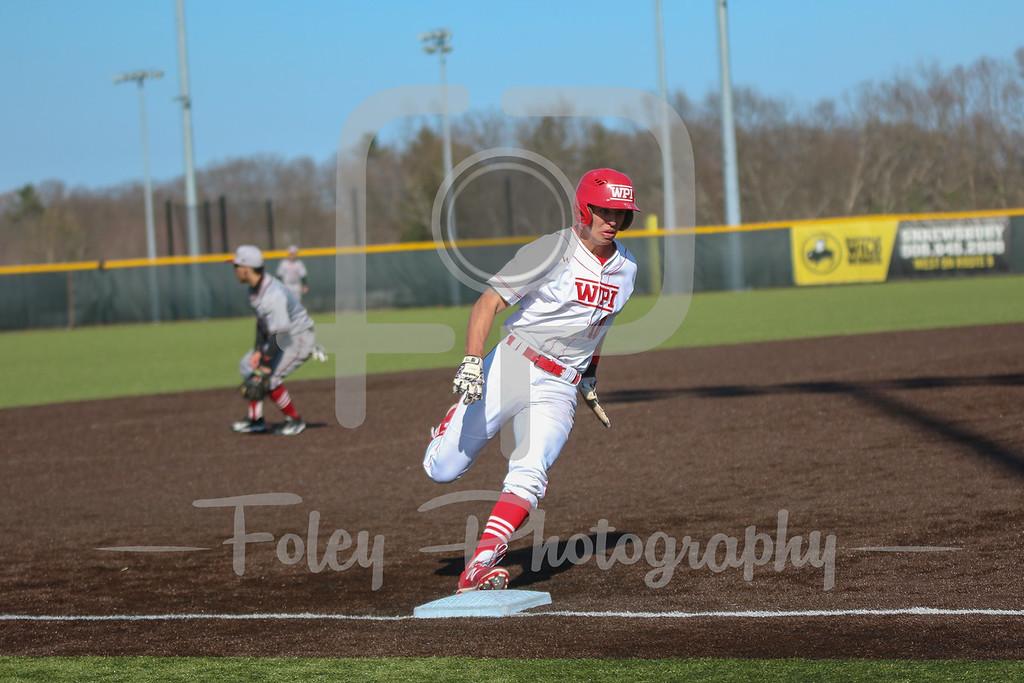 WPI Engineers outfielder Ryan Tropeano (10)