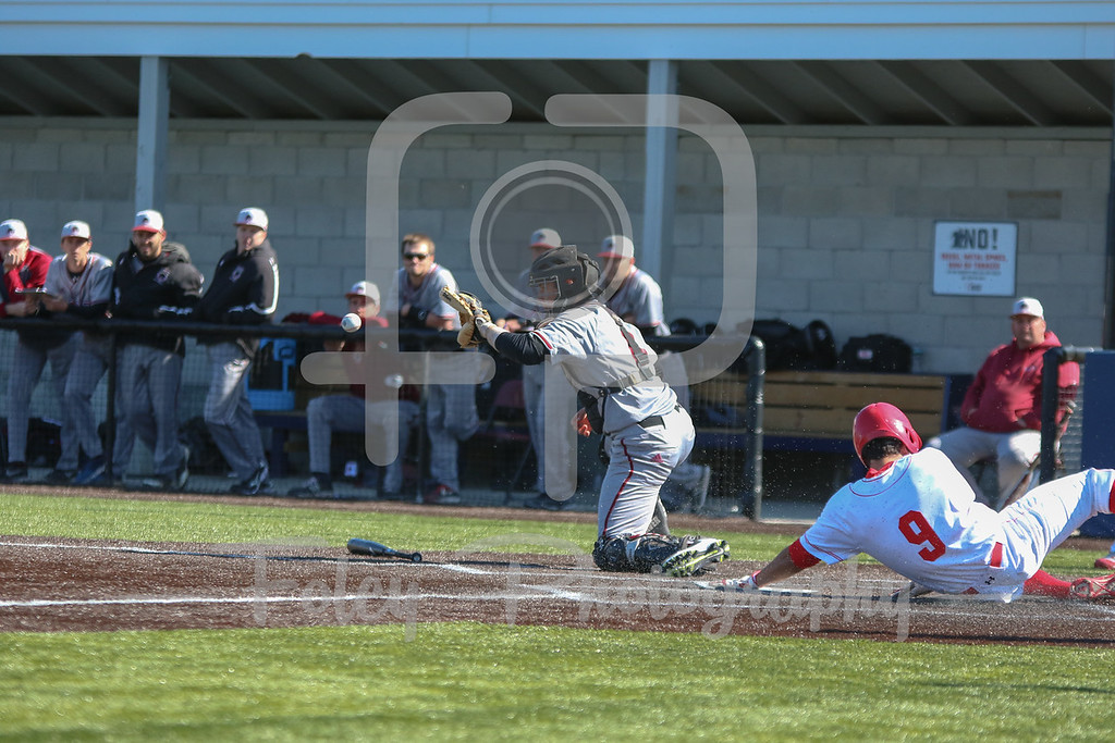 WPI Engineers outfielder Anthony Capuano (9) MIT Engineers David Heller (6)