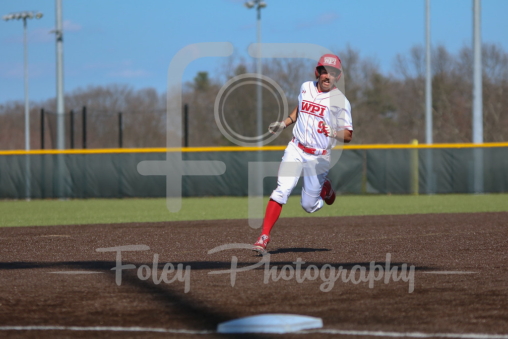 WPI Engineers outfielder Anthony Capuano (9)