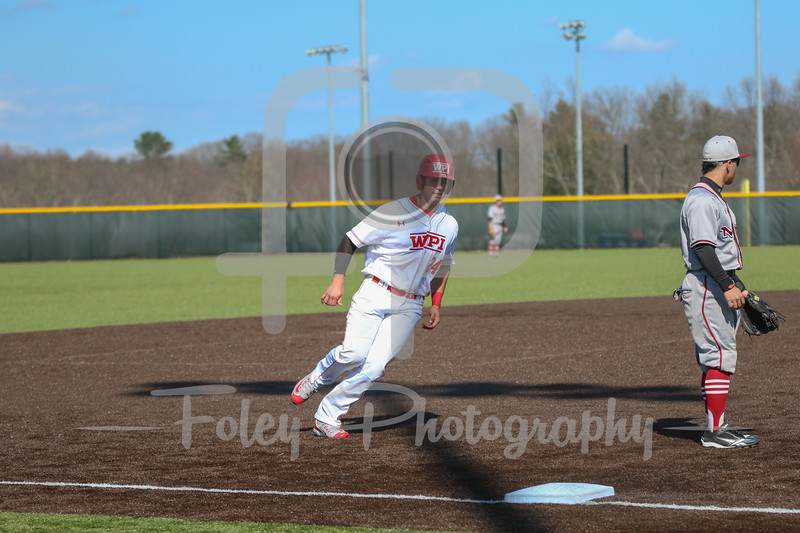WPI Engineers first baseman Matt Howard (24)