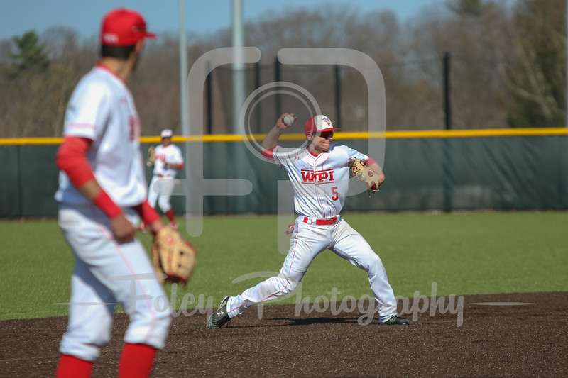 WPI Engineers shortstop Nick Comei (5)