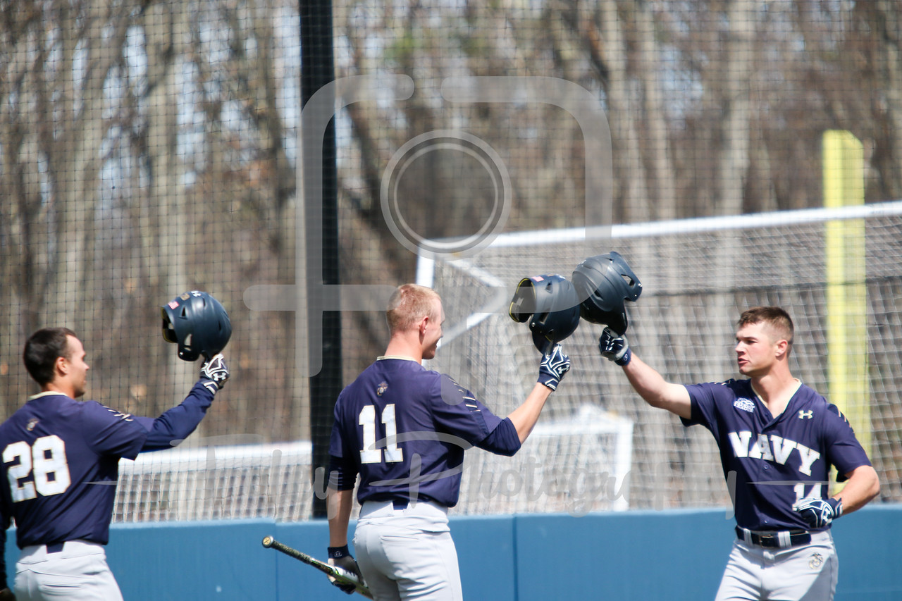 Navy Midshipmen outfielder Leland Saile (14) Navy Midshipmen outfielder Evan Lowery (11) Navy Midshipmen outfielder Stephen Born (28)