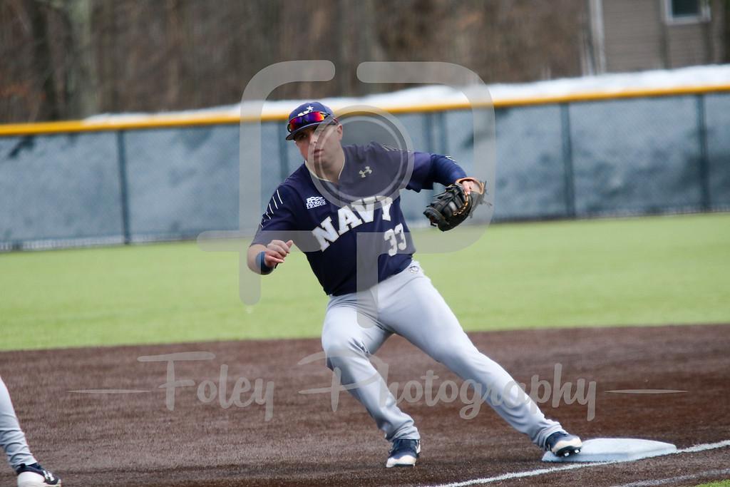 Navy Midshipmen infielder Christian Hodge (33)