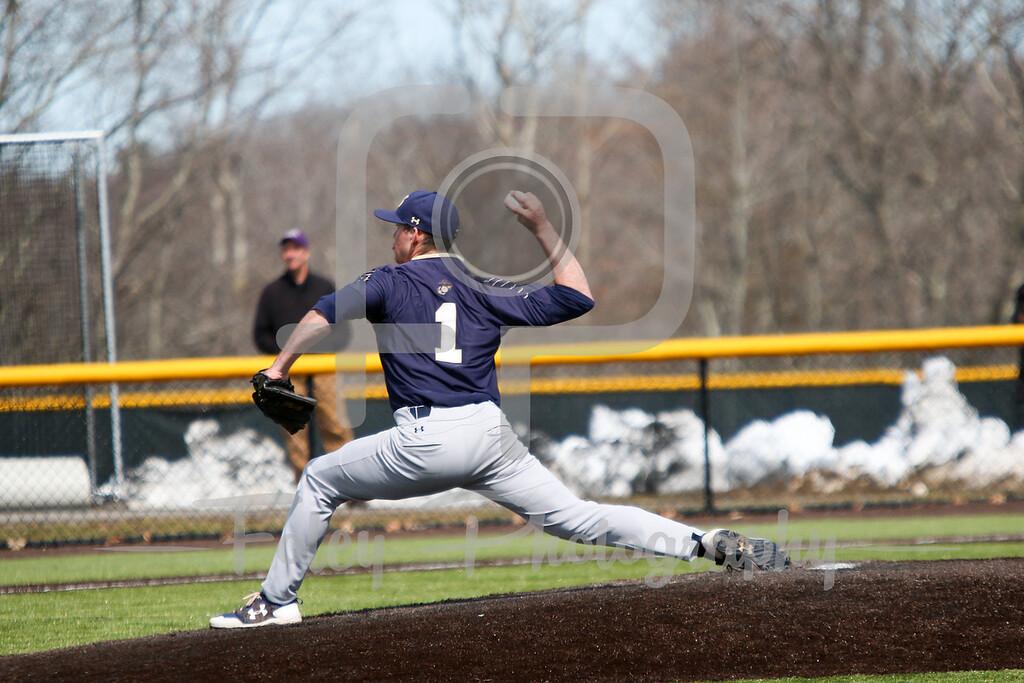 Navy Midshipmen pitcher Andrew Sauer (1)