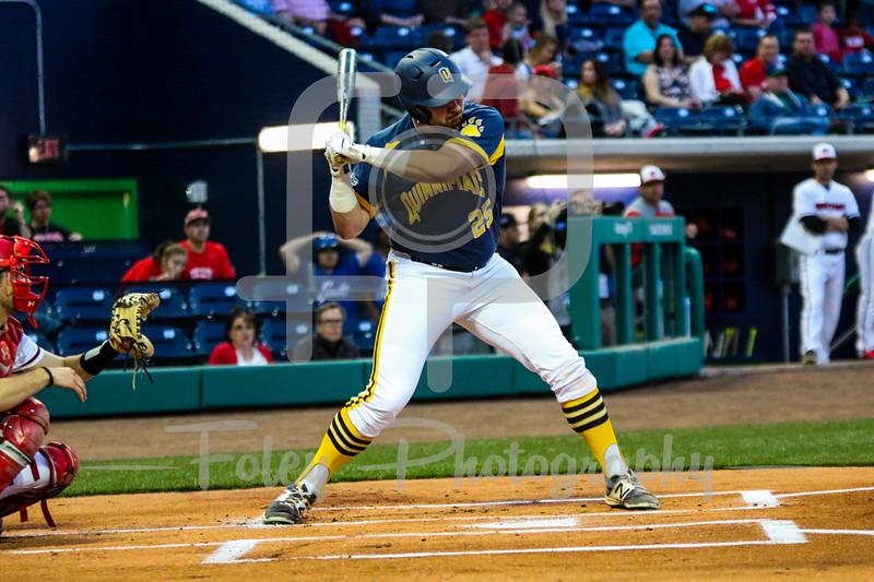 Quinnipiac first baseman Liam Scafariello (25)
