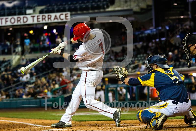 Hartford third baseman Chris Sullivan (7)