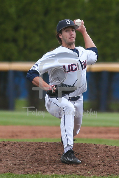 Connecticut Huskies pitcher P.J. Poulin (19)