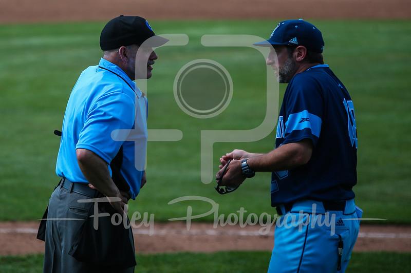 Rhode Island Rams head coach Raphael Cerrato Umpire Jeff Merzel