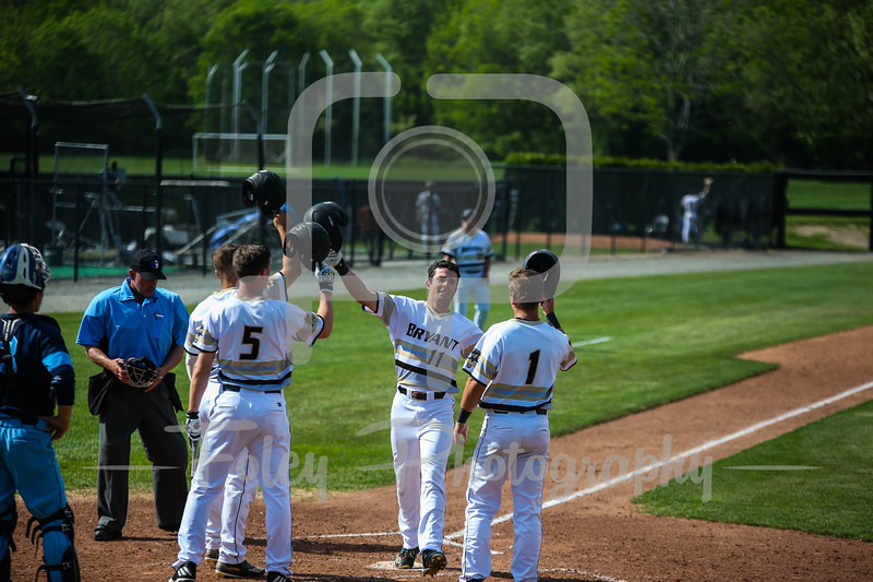 Bryant Bulldogs outfielder Nick Angelini (11)