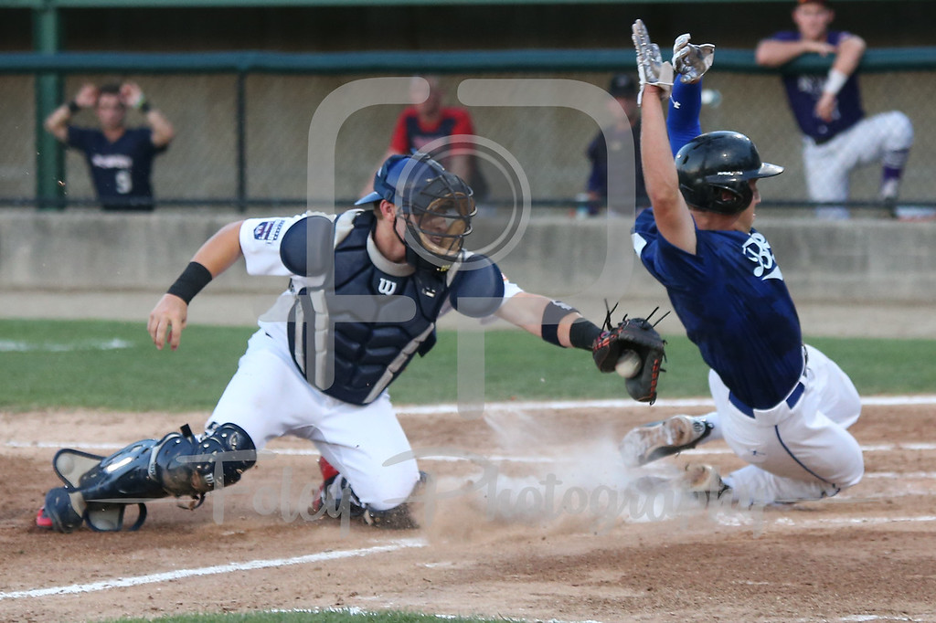 USA Collegiate National Team catcher Grant Koch (33) of Arkansas Futures League Jake Fresca of Sacred Heart University
