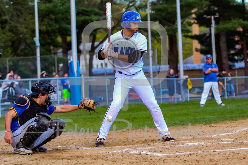 Becker College Hawks outfielder Evan Barrera (19)