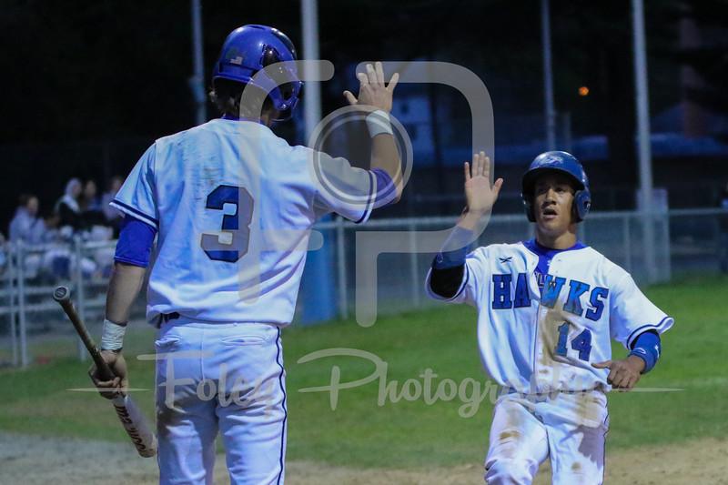 Becker College Hawks outfielder Josiah Shepherd (14) Becker College Hawks shortstop T.J. Sempkowski (3)