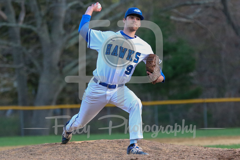 Becker College Hawks pitcher Eric Trahan (9)