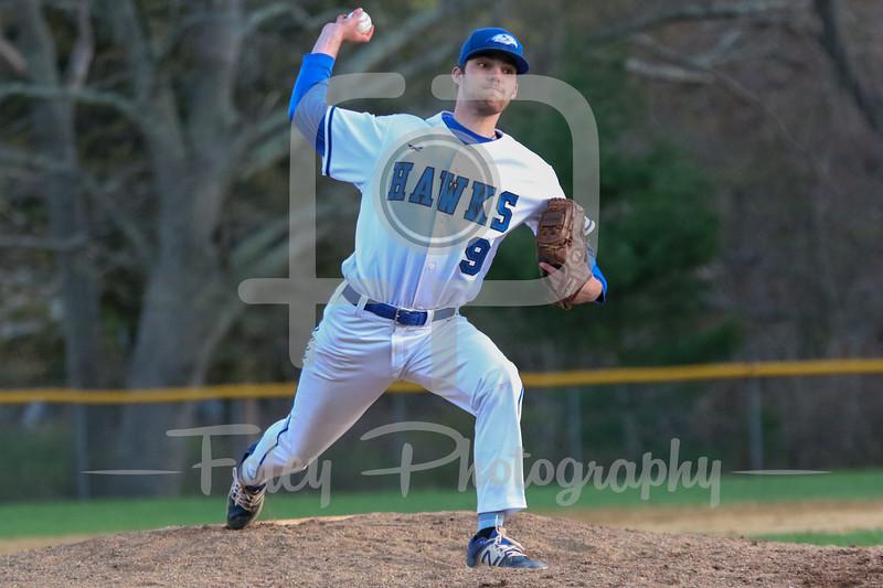 Becker College Hawks pitcher Eric Trahan (9)
