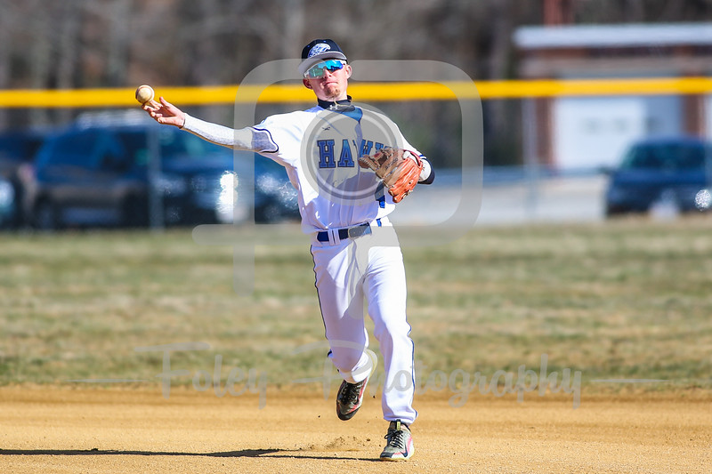 Becker College Hawks second baseman Coby Hussey (4)