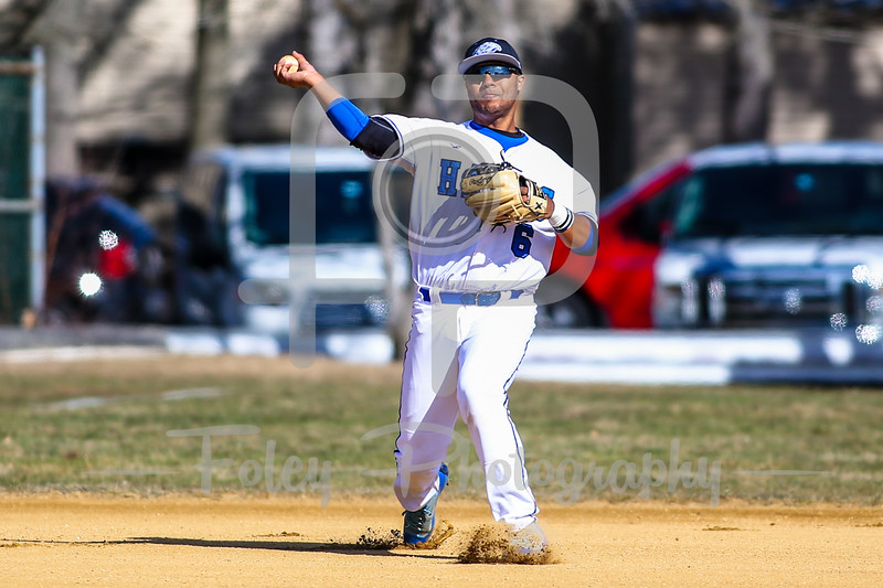 Becker College Hawks third baseman Noah Rivera (6)