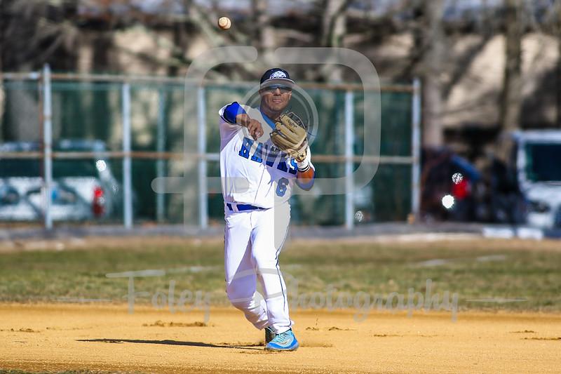 Becker College Hawks third baseman Noah Rivera (6)