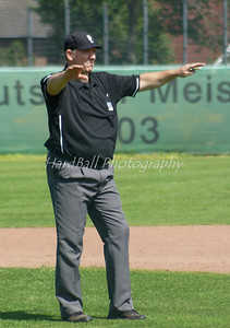 He does not seem to like his own call our Field Umpire ?!
