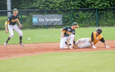 Sliding action on 2nd base...