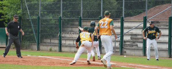 ....chaos on 1st base...