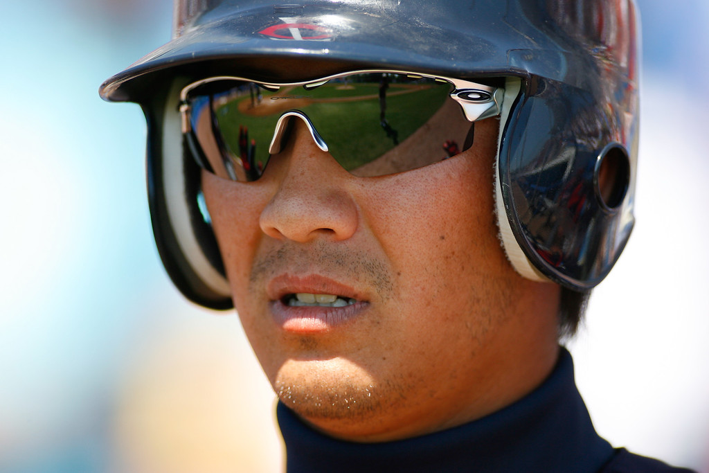 Minnesota Twins second baseman Tsuyoshi Nishioka (1) during a Grapefruit League Spring Training Game at the Florida Auto Exchange Stadium.