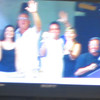 Blurry, but we did make the Jumbo Tron.