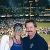 Pam and I celebrate when the DBacks win game 7 in dramatic fashion and the stadium is pandemonium.